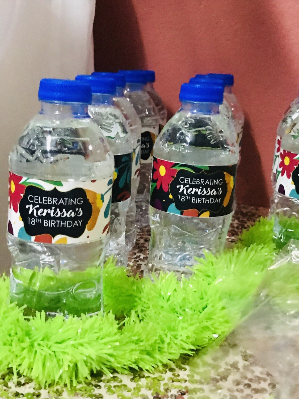Bottled Water Label