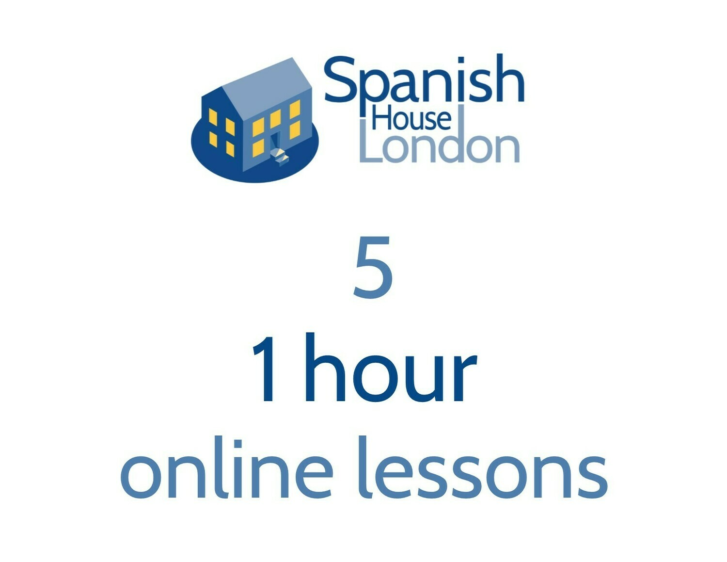 Five 1 hour 1-to-1 Online Lessons