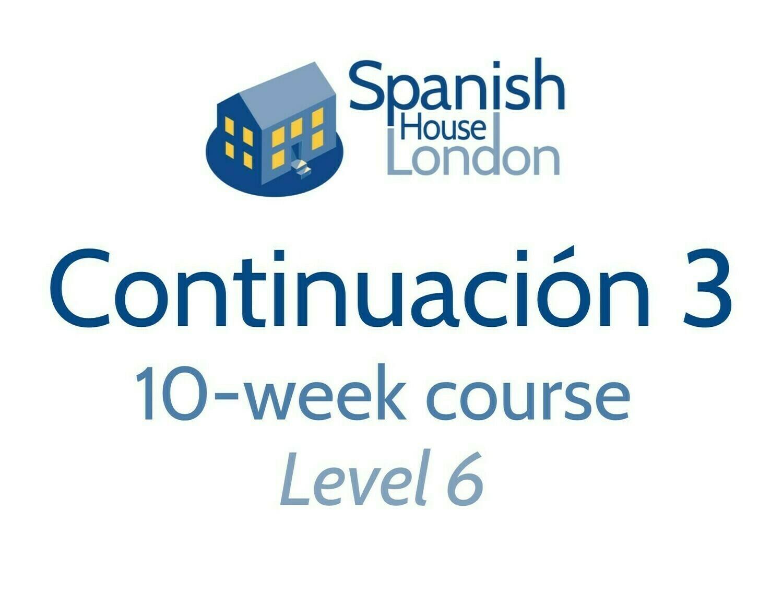 Continuacion 3 Course starting on 18th November at 6pm