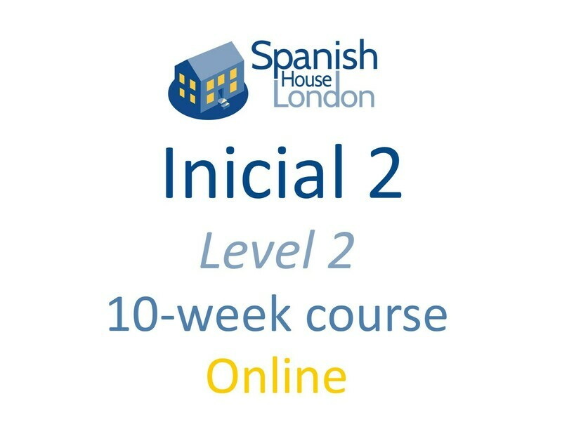 Inicial 2 Course starting on 28th April at 7.30pm