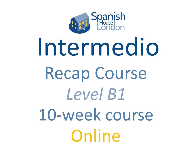 Intermedio/Avanzado Recap Course starting on 6th September at 6pm