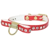 Red Bow Tie Collar With Rhinestones