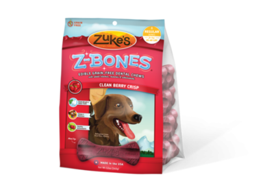 Zuke's Z-Bones Clean Berry Crisp Dental Dog Treats