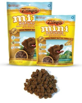 Zuke's Mini Naturals Fresh Peanut Butter Formula Dog Treats