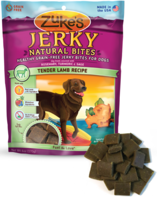 Zuke's Jerky Naturals Tender Lamb Recipe Dog Treats