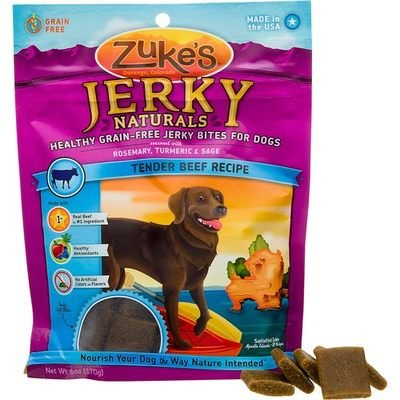 Zuke's Jerky Naturals Tender Beef Recipe Dog Treats