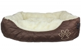 Brown Oxford Quilted Bed