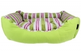 Green Canvas Striped Bed