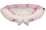 Pink Berry Plaid Bed