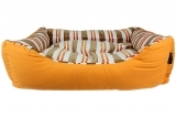 Orange Canvas Striped Bed