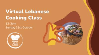 Lebanese Virtual Cooking Class Oct Edition