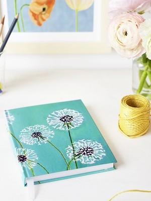 Journal:  Dandelions on Aqua