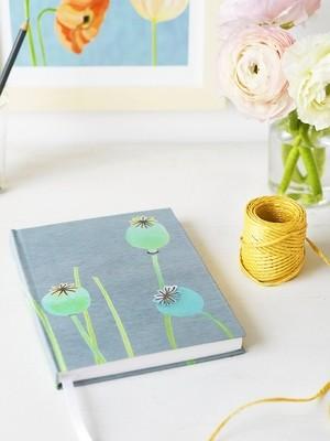 Journal:  Poppy Pods on Grey