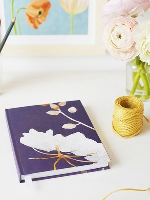 Journal:  Big White Flower on Plum