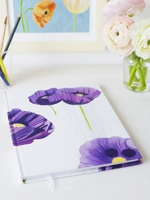 Sketchbook:  Purple Poppies on Snow