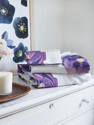 Sheet Set:  Purple Poppies on Snow
