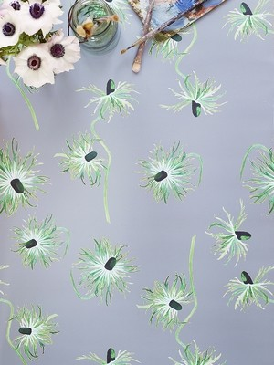 Wallpaper:  Thistle on Grey