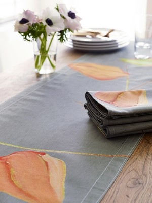 Table Runner:  Lanterns on Grey