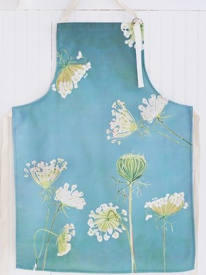 Apron:  Queen Anne's Lace on Teal