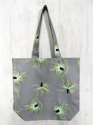 Tote Bag:  Thistle on Grey