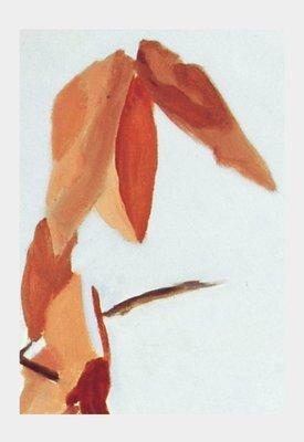 Art Print:  Rust Leaves on White