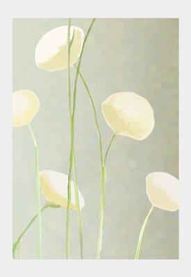 Art Print:  Cream Flowers on Mist