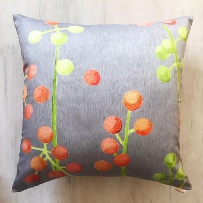 Throw Pillow:  Brunia on Grey