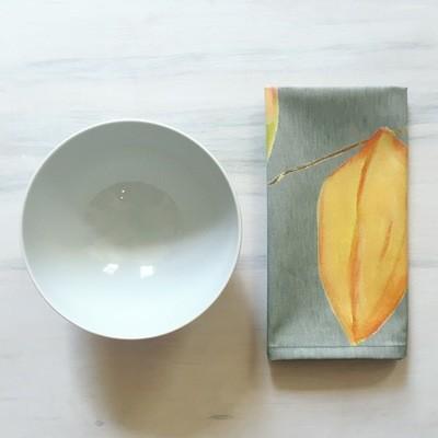Napkin Set:  Three Lanterns on Grey