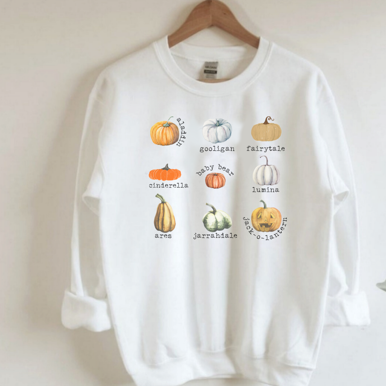 Fall Pumpkin Patch Collage Sweatshirt