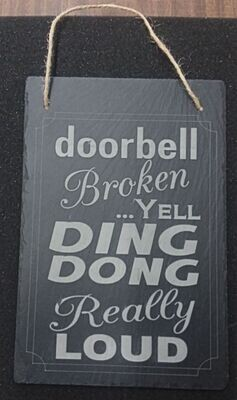 Slate Farmouse Hanging Sign - Black Rustic Wall Décor for Kitchen, Wedding, Bathroom, Outdoor Garden, Pantry Signs