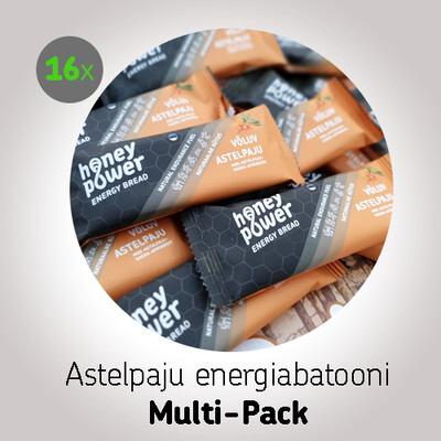 Astelpaju energiabatooni Multi-Pack (16x40g)