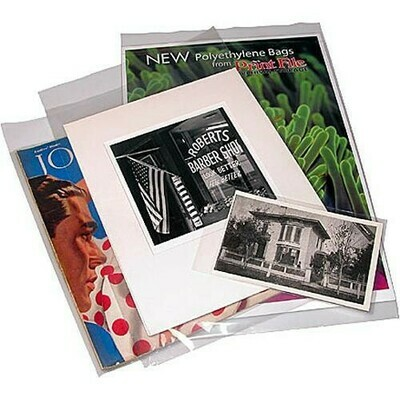 "Print File 11.7x14 Polyethylene  Bag, 2"" Flap-4 mil 12-1/16x17 (A3) Pack of 25"