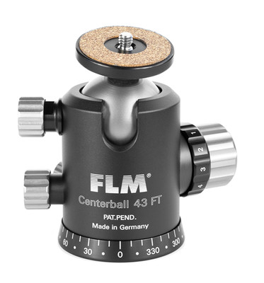 FLM CB-43FTR Professional Ball Head 43mm with Friction, Memory Lock, 15˚Stop Pan and Tilt Lock