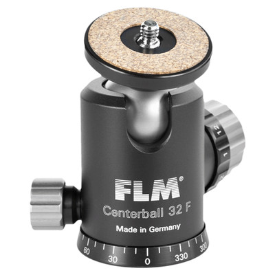 FLM CB-32F Standard Ball Head 32mm with Friction, Memory Lock and Pan
