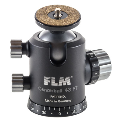 FLM CB-43FT Professional Ball Head 43mm with Friction, Memory Lock, Pan and Tilt Lock