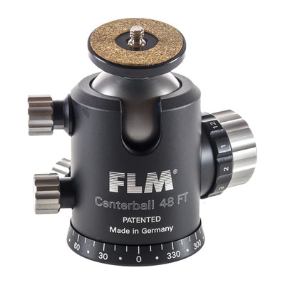 FLM CB-48FTR  Professional Ball Head 48mm with Friction, Memory Lock, 15˚Stop Pan and Tilt Lock