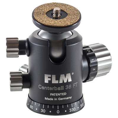 FLM CB-38FTR Professional Ball Head 38mm with Friction, Memory Lock, 15˚Stop Pan and Tilt Lock