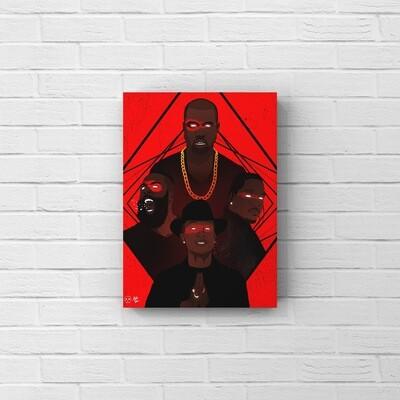 Kanye West, Pharrell Williams, Pusha T, James Harden