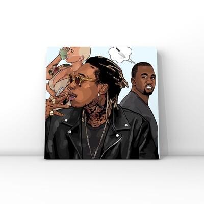 Wiz Khalifa and Kanye West