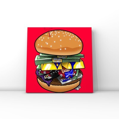 Luxery Burger / Money art