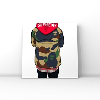 BAPE & Supreme brand art