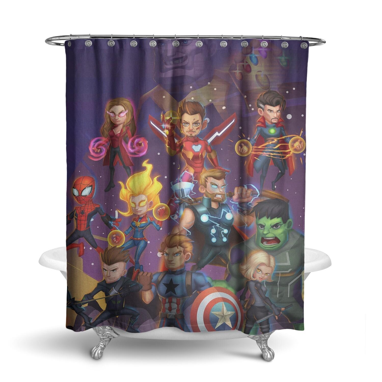 «Мстители» штора для ванной