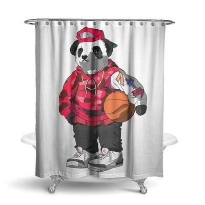«Панда (доступно 2 цвета)» штора для ванной