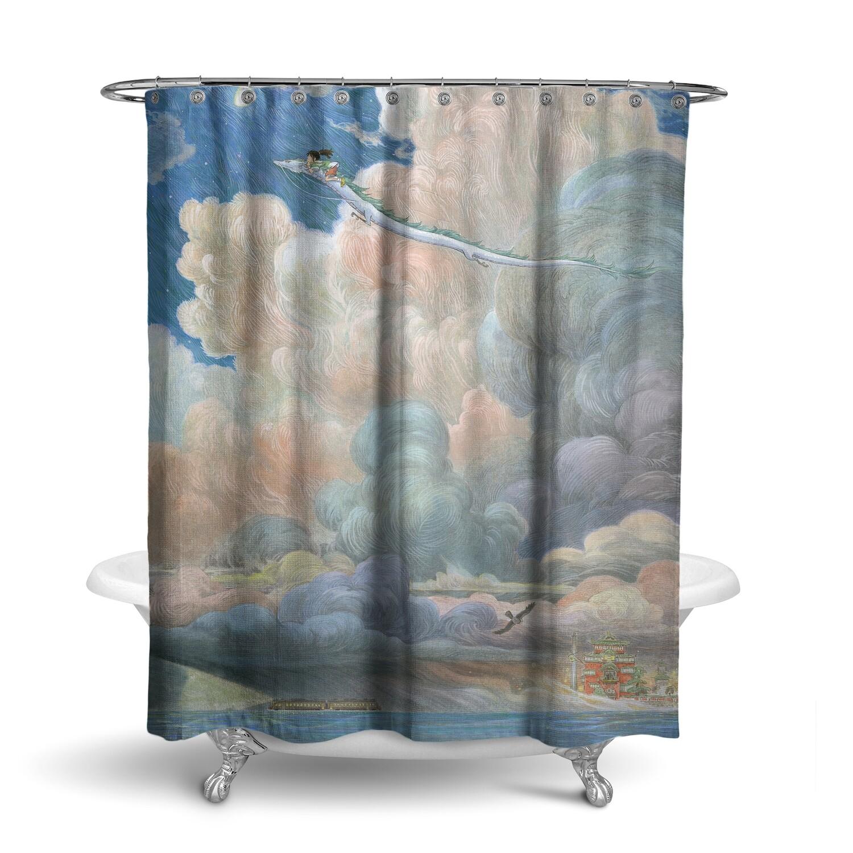 «Унесённые призраками» штора для ванной