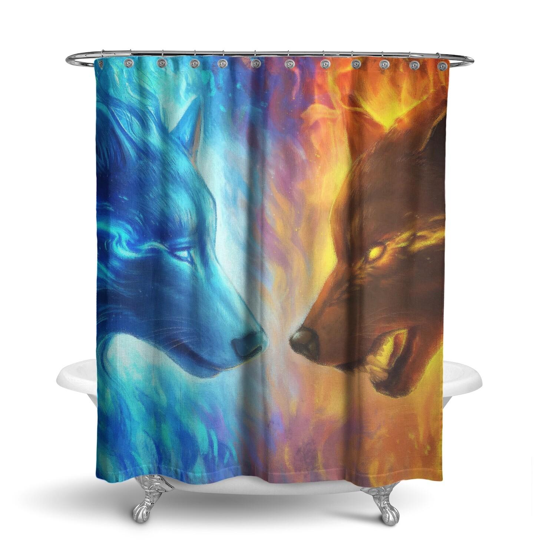 «Волки» штора для ванной