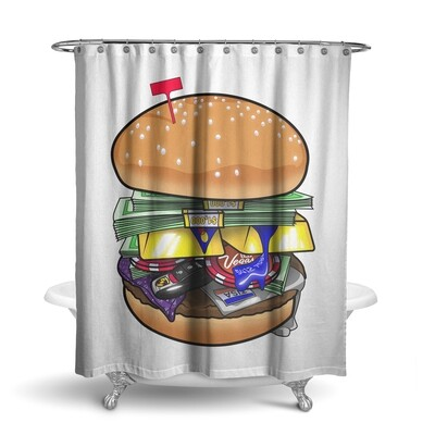 «Бургер (доступно 2 цвета)» штора для ванной