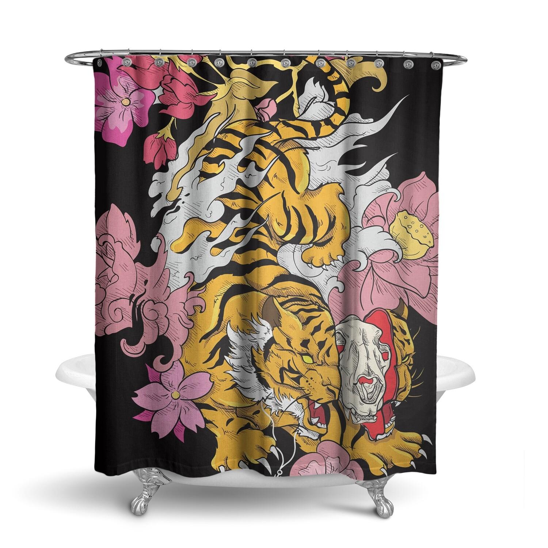 «Тигр» штора для ванной