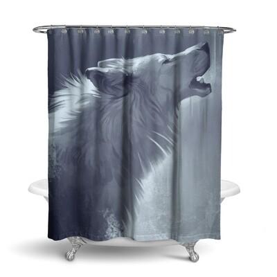 «Белый волк» штора для ванной