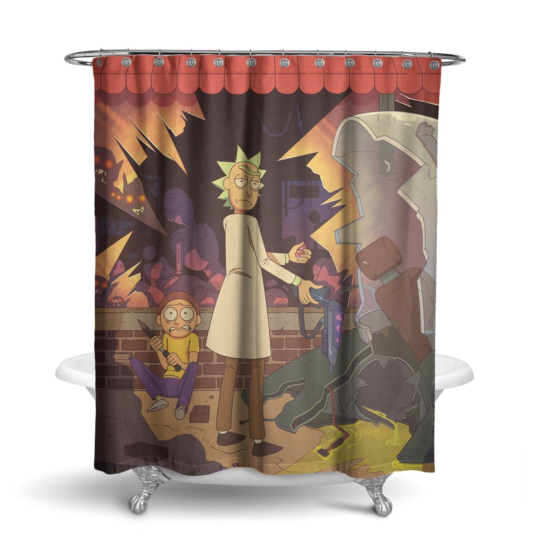 «Рик и Морти» штора для ванной