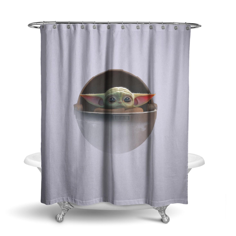 «Baby YODA / Мандалорец» штора для ванной